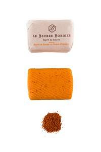 Beurre Bordier 125gr piment d'Espelette